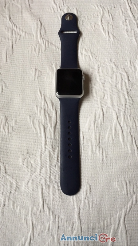 APPLE WATCH SPORT 38MM BIANCO + CINTURINO ORIGINALE BLU